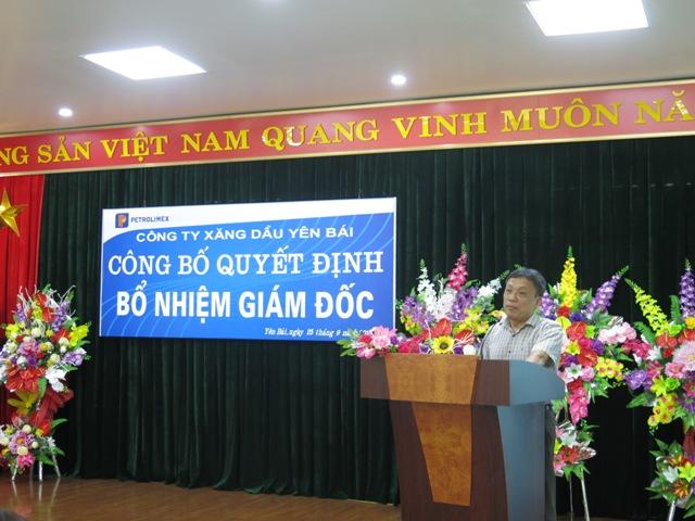 ông Nguyễn Thanh Sơn - Phó Tổng giám đốc Tập đoàn Xăng dầu Việt Nam có đôi lời phát biểu và chỉ đạo