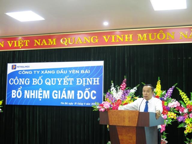 ông Nguyễn Thanh Bình - chủ tịch Công ty Xăng dầu Yên Bái