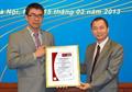 Lễ đón nhận giấy chứng nhận về hệ thống quản lý chất lượng theo tiêu chuẩn ISO 9001:2008
