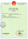 Certificate of registration of trademark No 208203