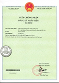 Certificate of registration of trademark No 208343