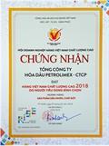 PLC được trao chứng nhận Hàng Việt Nam chất lượng cao năm 2018