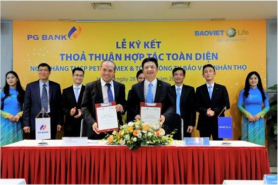 PG Bank - Bảo Việt Nhân thọ: Chính thức kí kết thỏa thuận hợp tác toàn diện